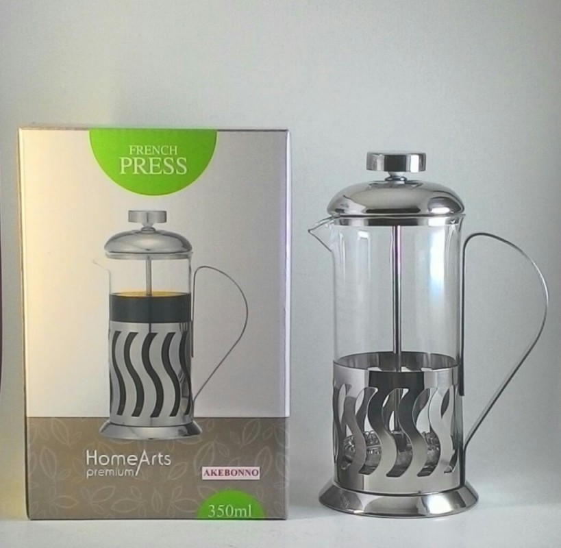 Akebonno French Press Coffee Maker Home Arts Premium 350 ml for 3 Cups