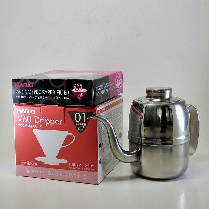 Home · Coffee Maker; Paket Hario V60 Coffee Dripper 01 + Paper Filter 01 + Kettle 420 ml