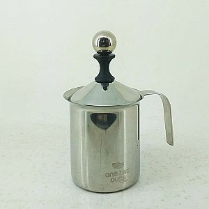 Pembuih Susu Manual Double Mesh Milk Frother Latte Maker 400 ml